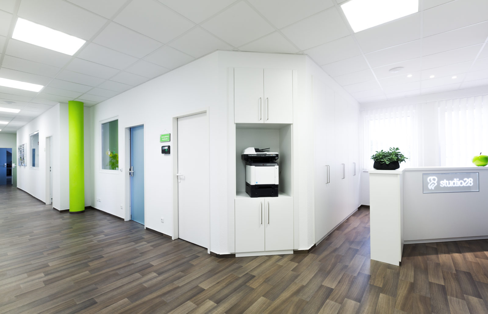 Eingangsbereich Dentalstudio Hoyerswerda